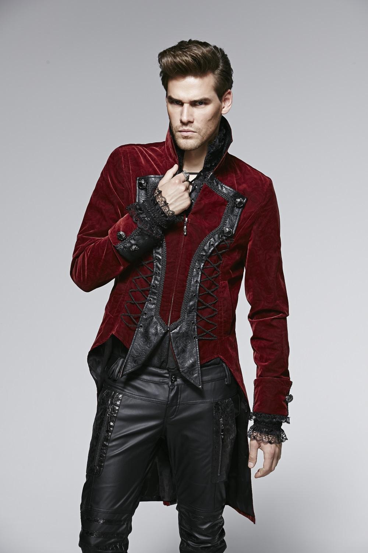 Veste gothique homme en velours bordeaux Veste gothique homme en velours  bordeaux ... 061571f640a