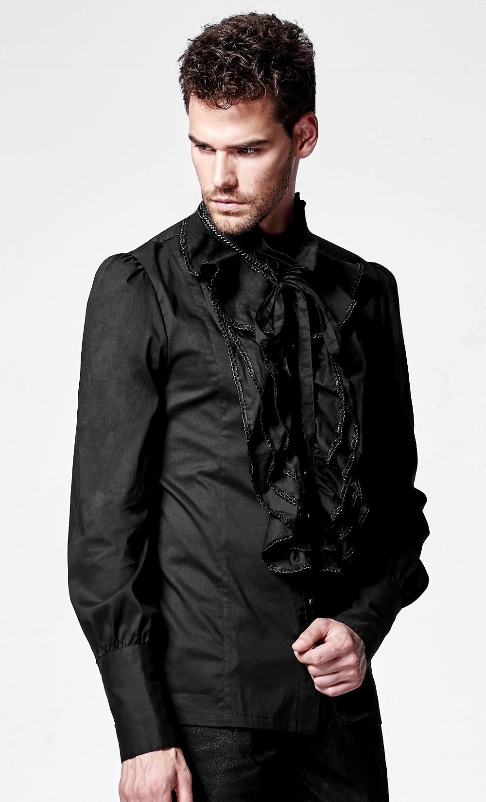 Chemise Noire Homme Fashion