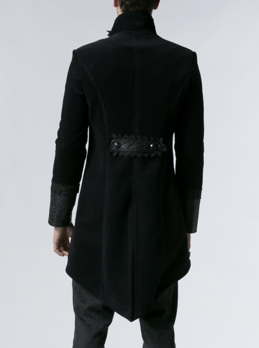 ... Photo n°2   Redingote gothique homme en velours noir ... 92691670dc7