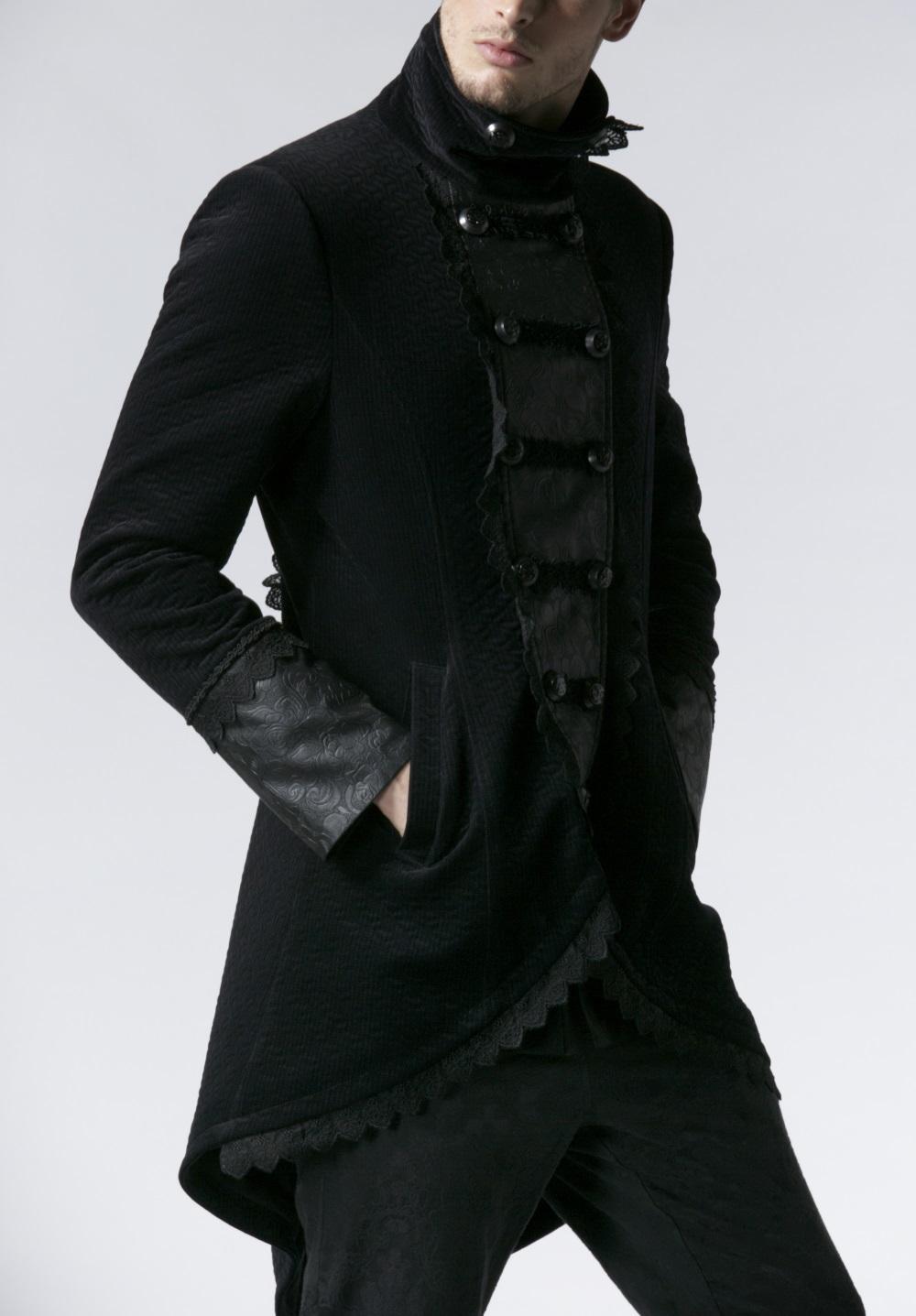 Redingote gothique homme en velours noir Redingote gothique homme en velours  noir ... ff6ea99eed2