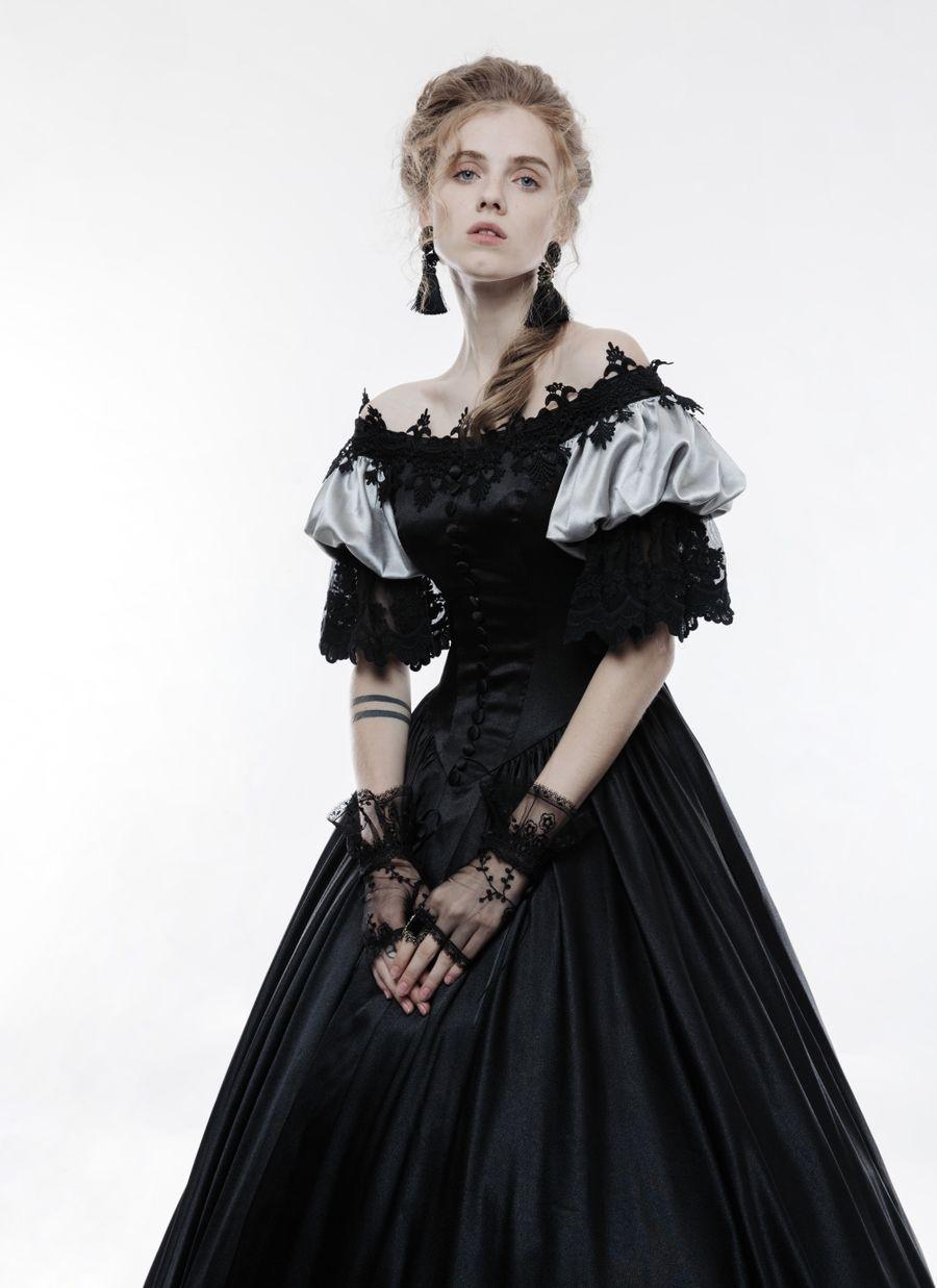 Robe de mariée noire de style gothique victorien PUNK RAVE wq356 bce219aa048