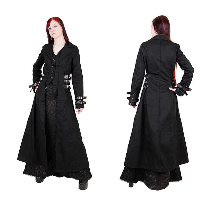 redingote femme en noir