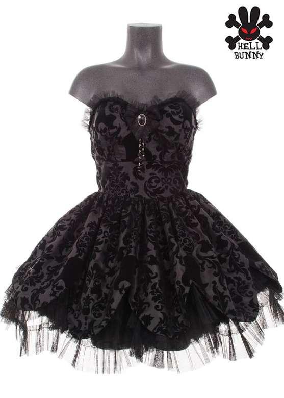Robe gothique HELL BUNNY \u0027dark lolita\u0027