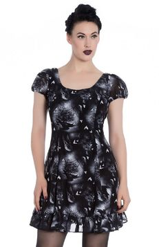 Robe gothique ALCHEMY BLACK 'ash dress'