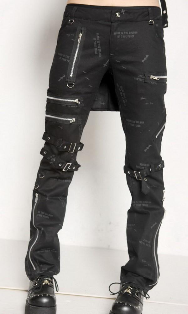pantalon gothique noir pour femme avec chauve souris imprim es de chez glp. Black Bedroom Furniture Sets. Home Design Ideas