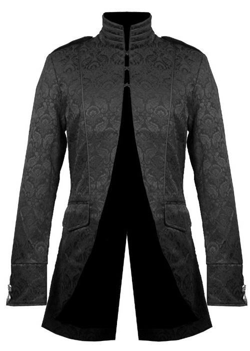 veste gothique victorienne homme en tissu brocarde noir. Black Bedroom Furniture Sets. Home Design Ideas