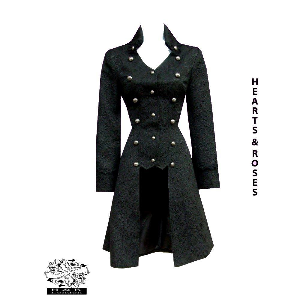 veste gothique noire femme en queue de pie h r 9187. Black Bedroom Furniture Sets. Home Design Ideas