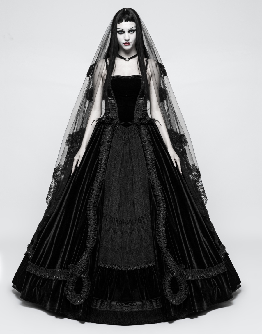 Grande robe gothique de mariée