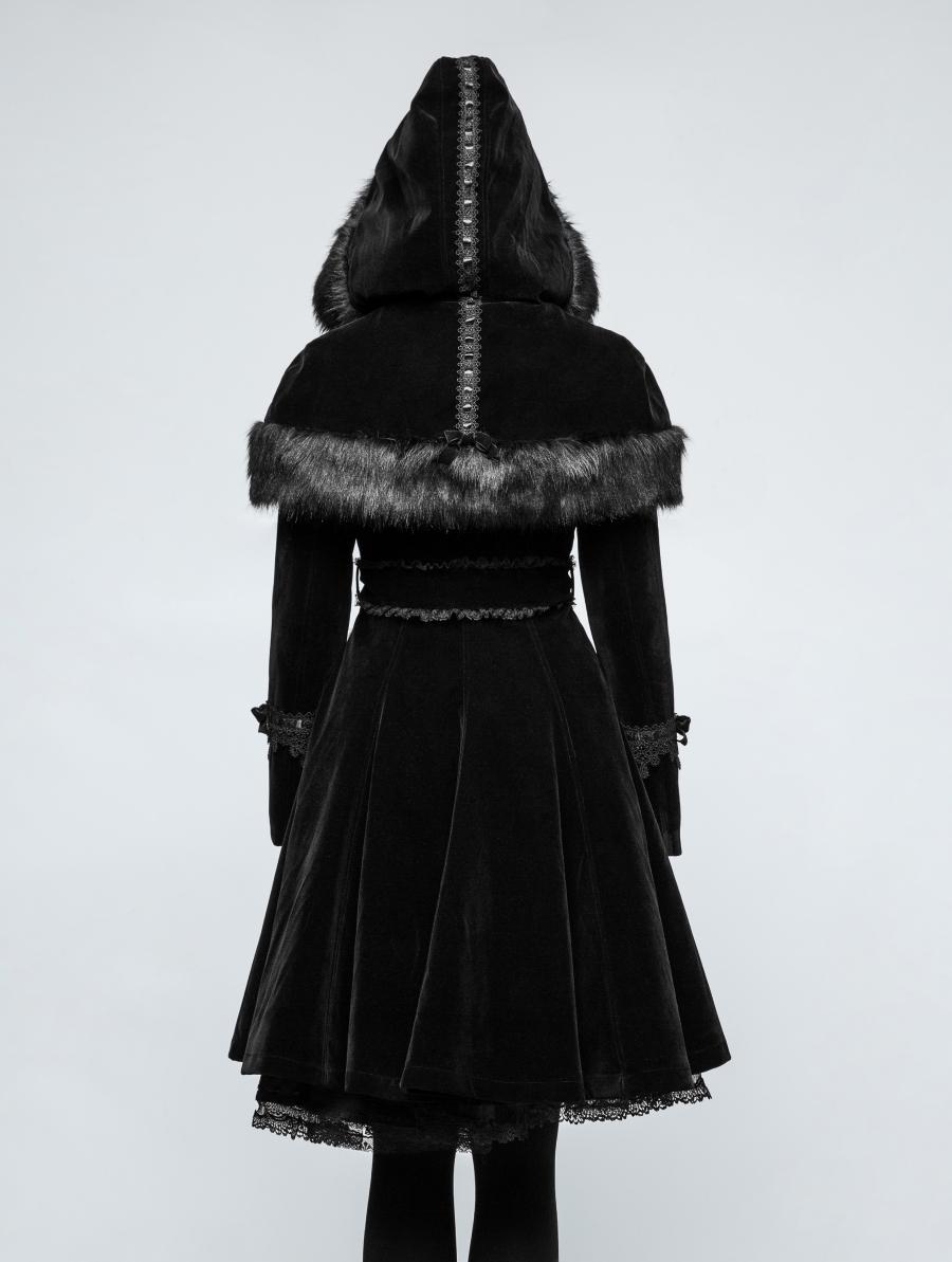 Manteau Lolita noir PYON PYON 'euphoria'