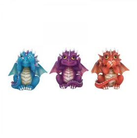 Set figurines dragons de la sagesse