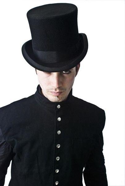 chapeau gothique haut de forme unisexe de 20 cm de hauteur. Black Bedroom Furniture Sets. Home Design Ideas