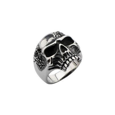 bague gothique femme en acier inoxydable repr sentant un skull. Black Bedroom Furniture Sets. Home Design Ideas