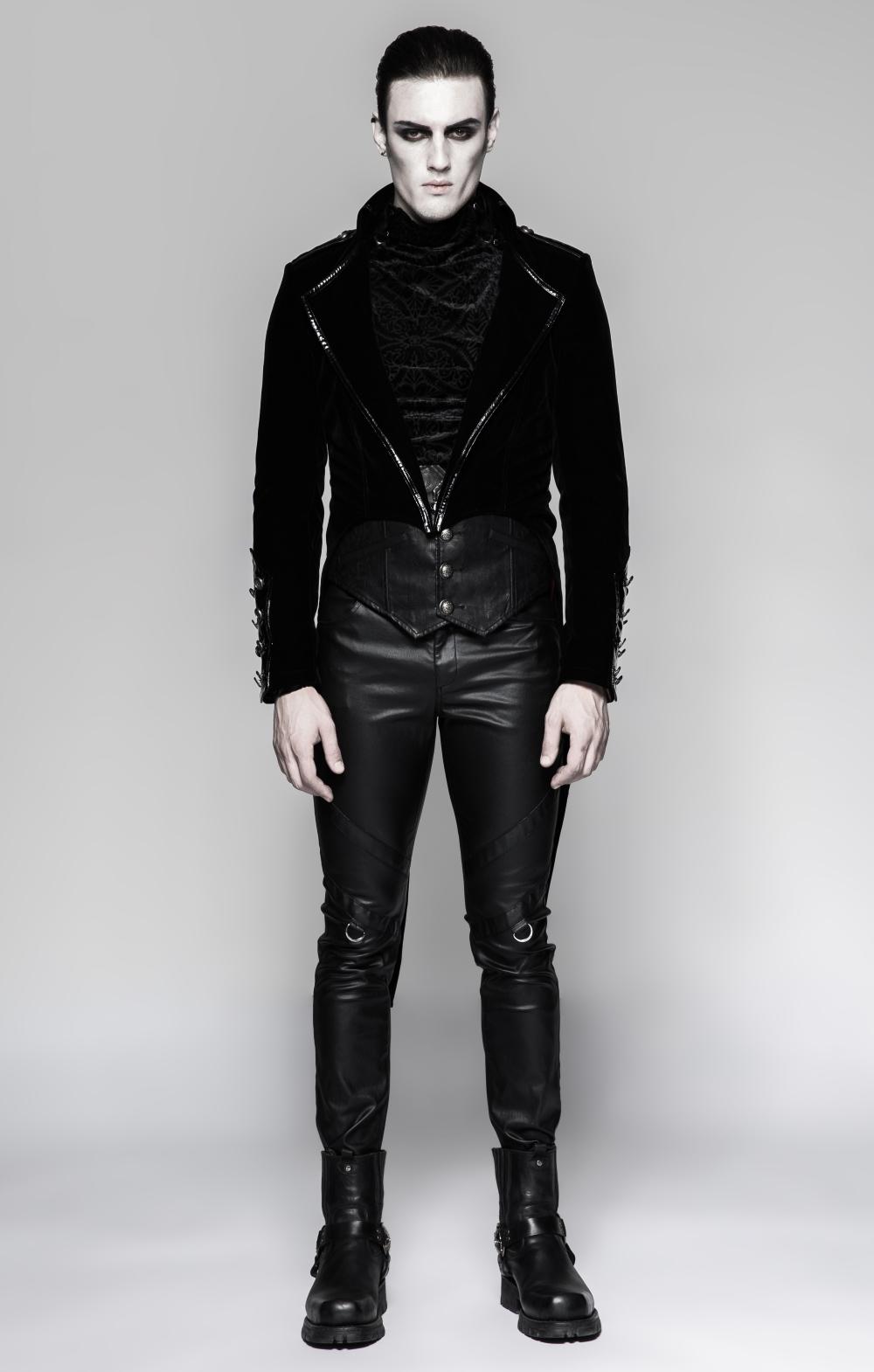 veste gothique vampire homme en queue de pie. Black Bedroom Furniture Sets. Home Design Ideas