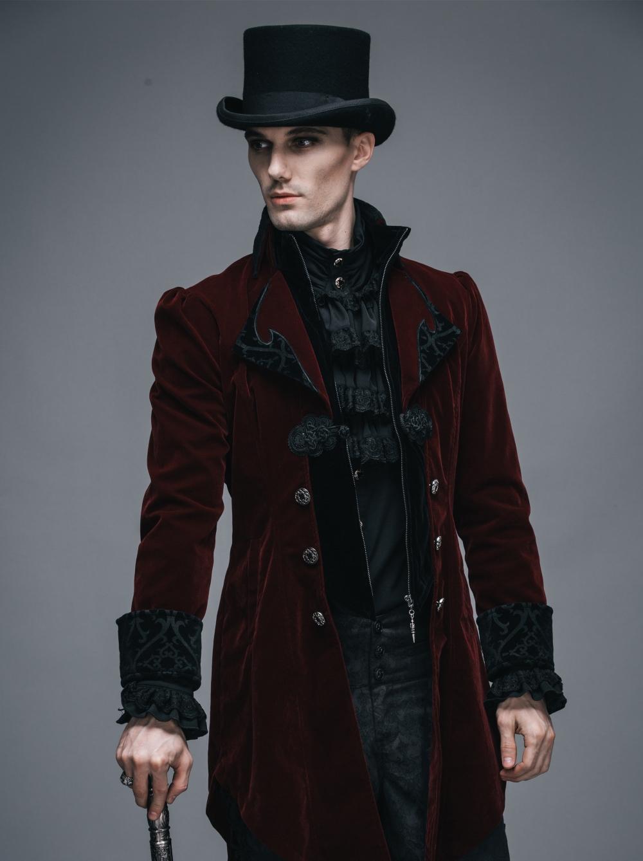 Veste Gothique Queue De Pie Bordeaux Pour Homme Devil Fashion