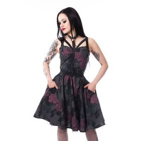 Robe gothique Poizen Industries dark rose