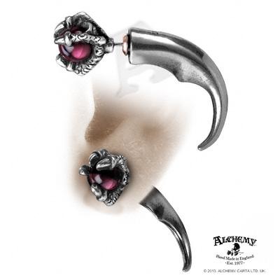 boucle d'oreilles gothique