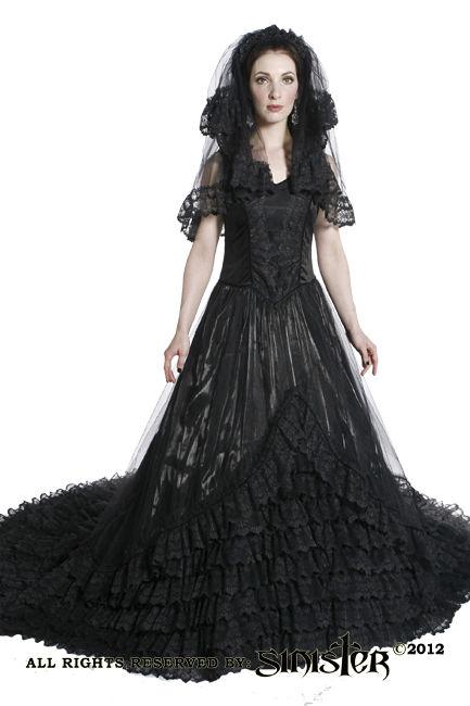 Robe De Mariee Gothique Sinister