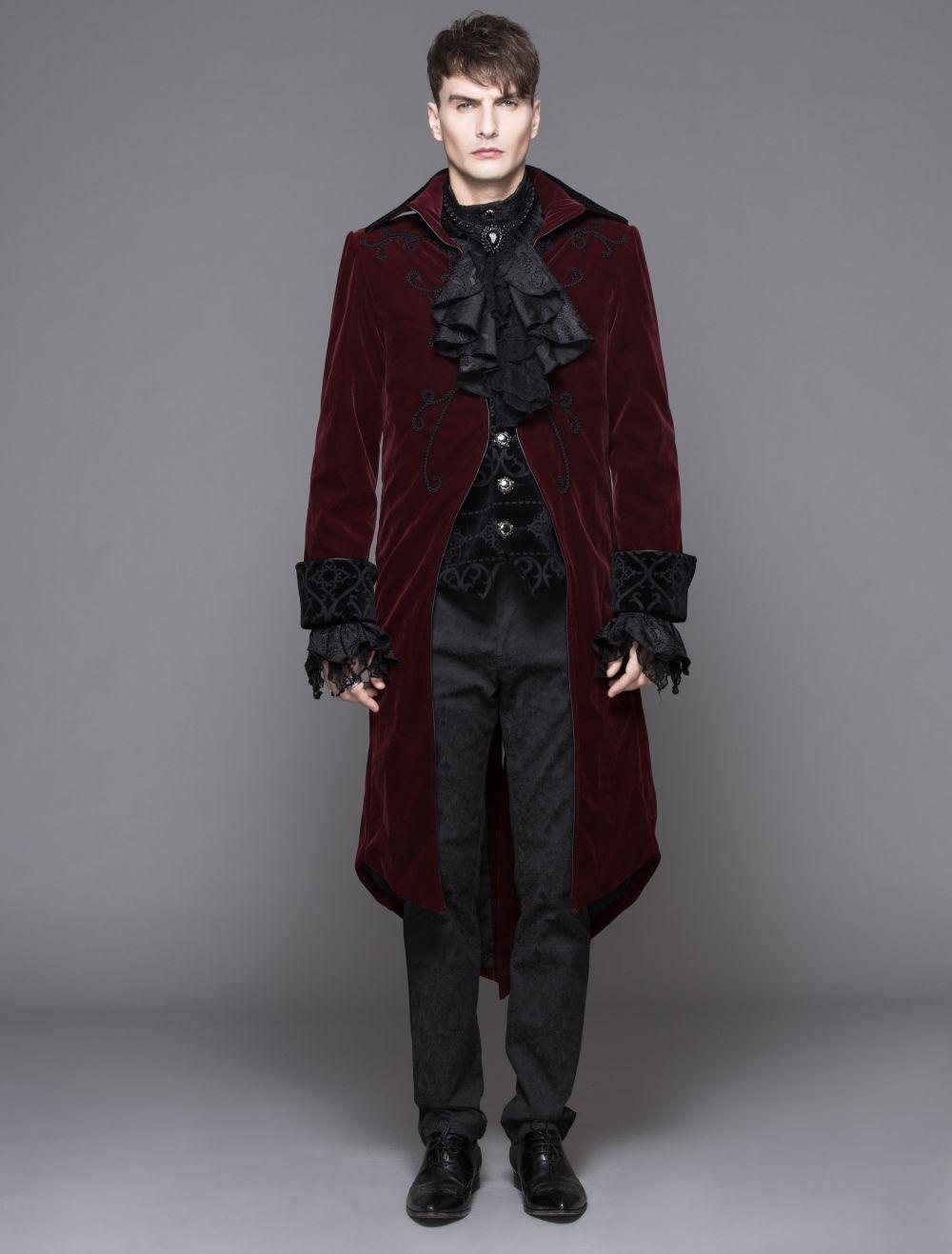 veste queue de pie pour homme devil fashion en velours. Black Bedroom Furniture Sets. Home Design Ideas