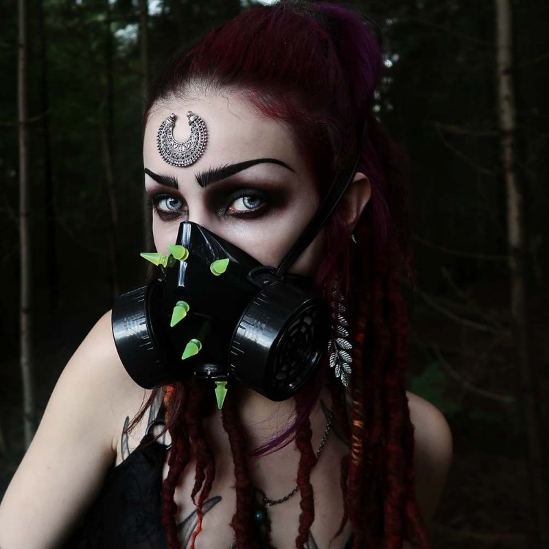 masque respiratoire gothique