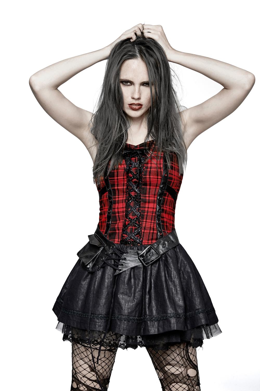 Robe gothique noire et rouge