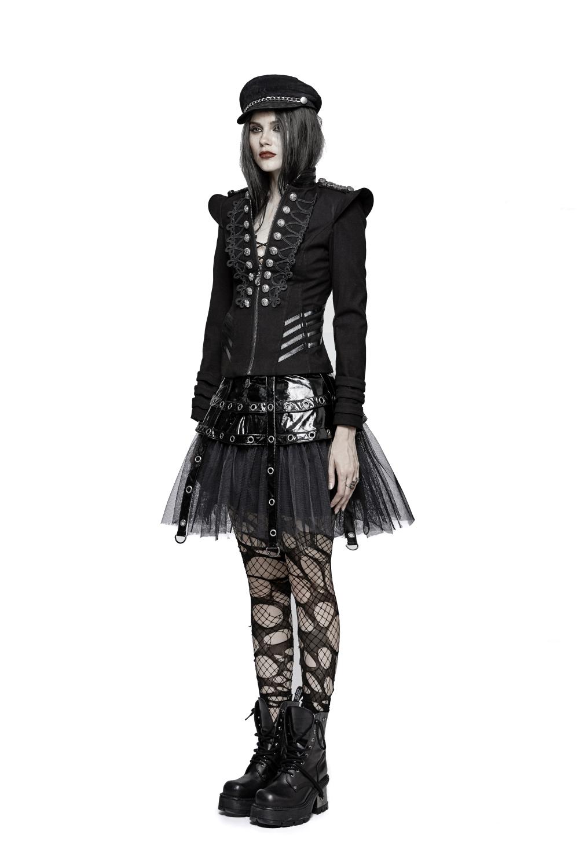 Punk Veste Style Rave Néo Militaire Femme Gothique 7azwxopu 4R35ALqcjS