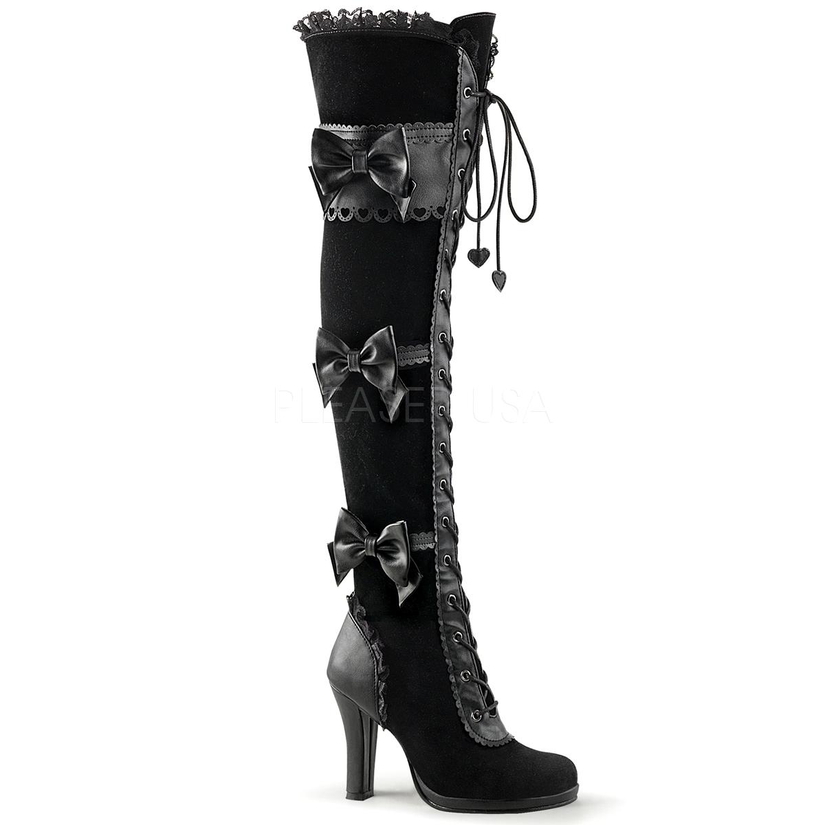 d9a01dd5e33 bottes et chaussures gothiques femme. Cuissardes gothiques DEMONIA ...