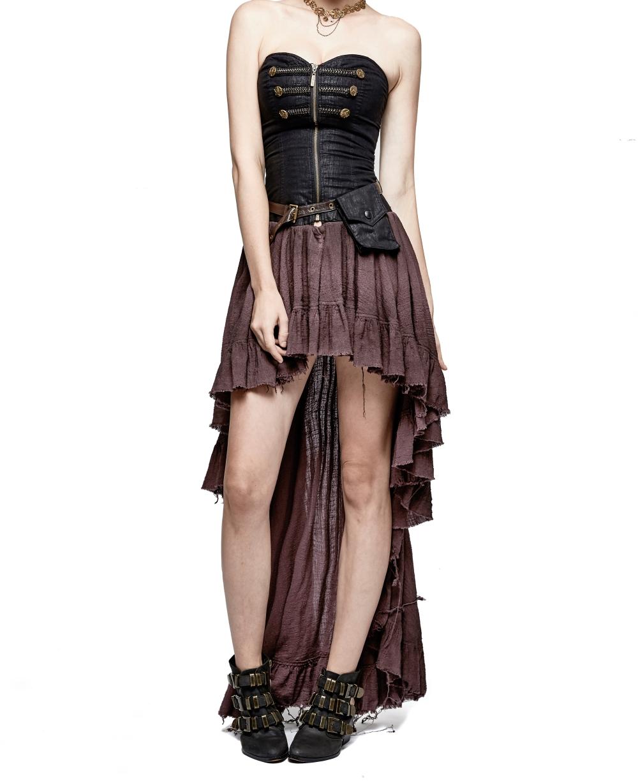 4d68f8282cce Robe steampunk noire et marron PUNK RAVE