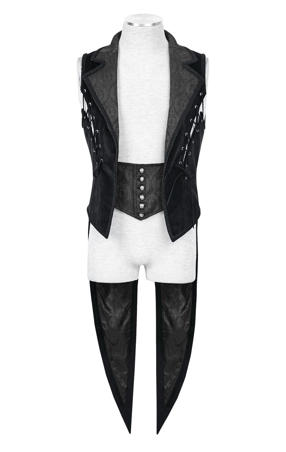 veste gothique sans manches pour homme en queue de pie. Black Bedroom Furniture Sets. Home Design Ideas