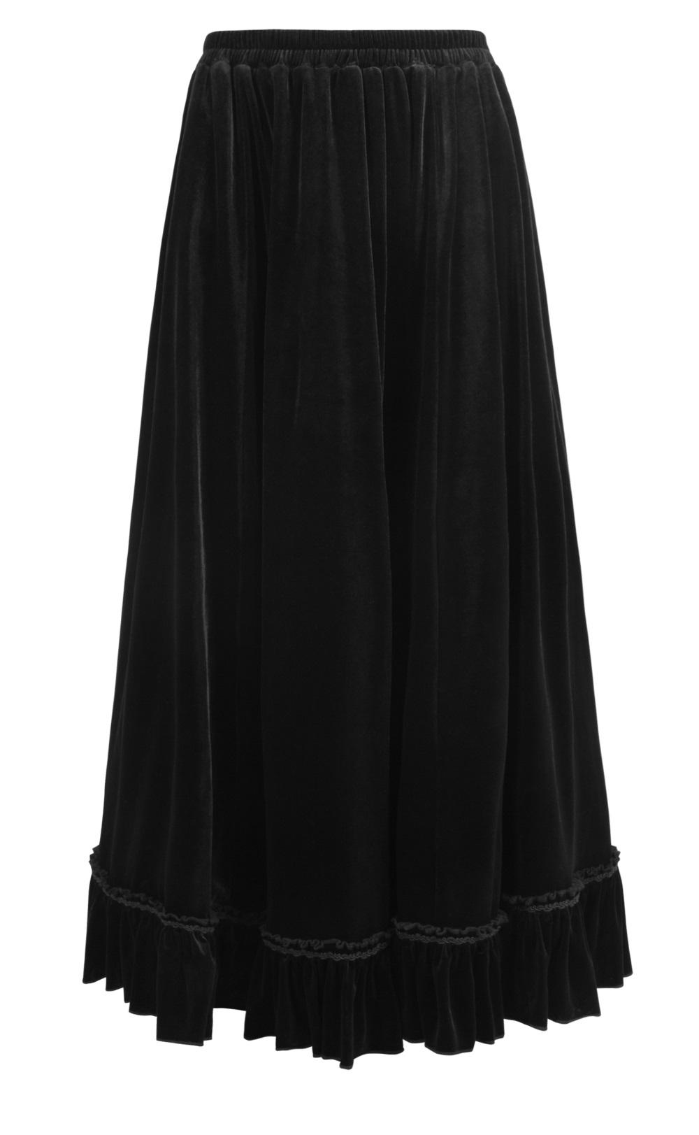 le dernier 31a89 9e5c7 Longue jupe gothique en velours noir