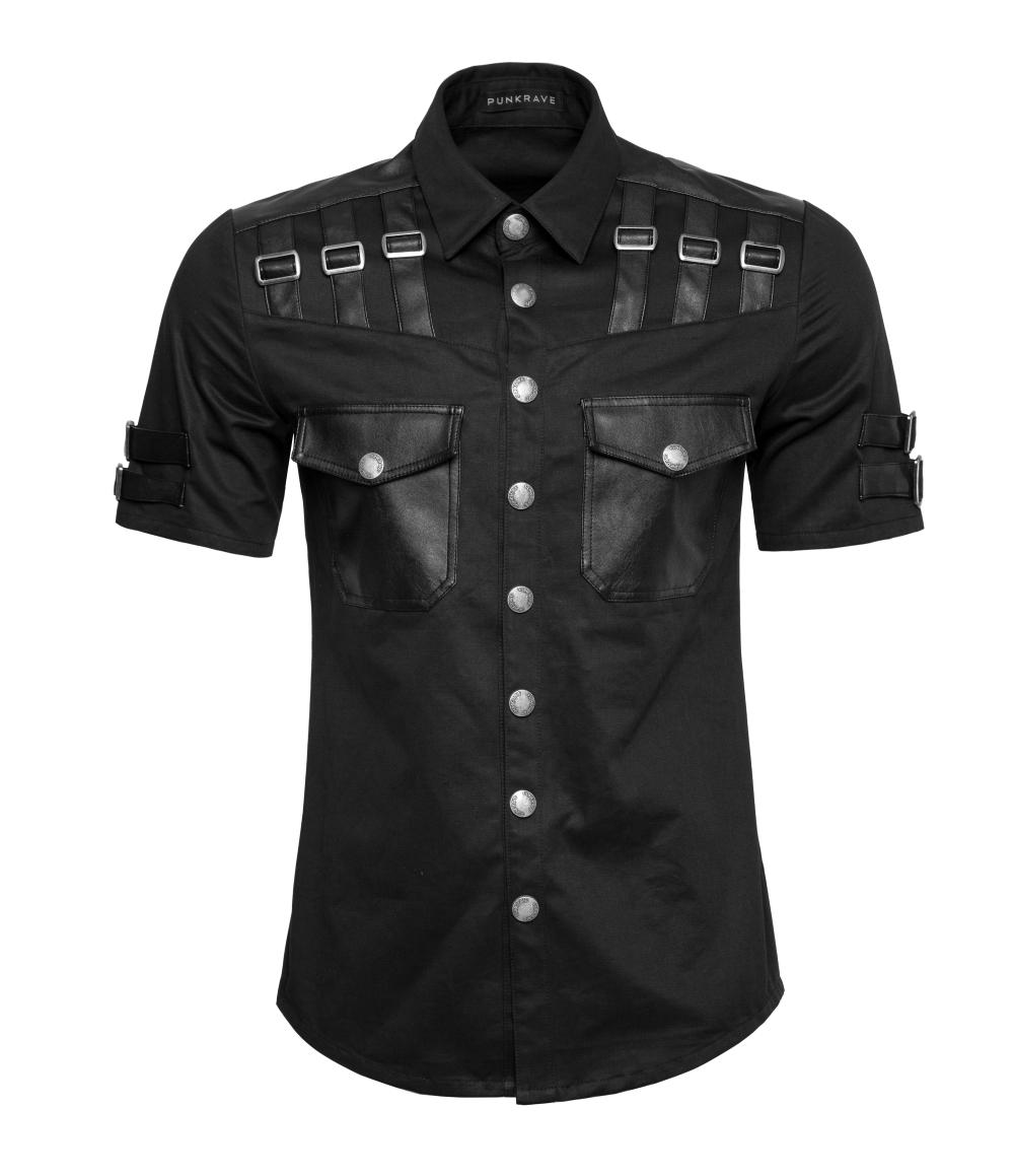 chemise homme manches courtes goth rock. Black Bedroom Furniture Sets. Home Design Ideas