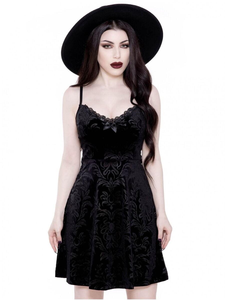 Killstar gothique goth occultisme robe d/'été Maxi-Astral Light SOLEIL LUNE