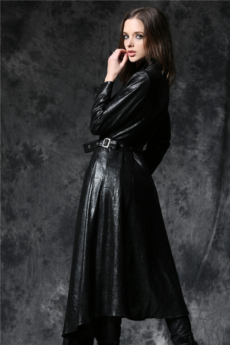 longue veste gothique femme dark in love en simili cuir vieilli. Black Bedroom Furniture Sets. Home Design Ideas