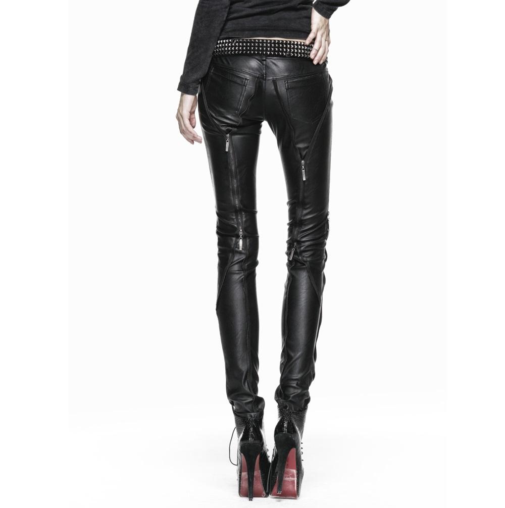 pantalon gothique femme punk rave en simili cuir. Black Bedroom Furniture Sets. Home Design Ideas