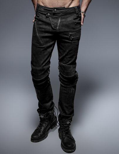 pantalons gothiques hommes pas cher sur discobole. Black Bedroom Furniture Sets. Home Design Ideas