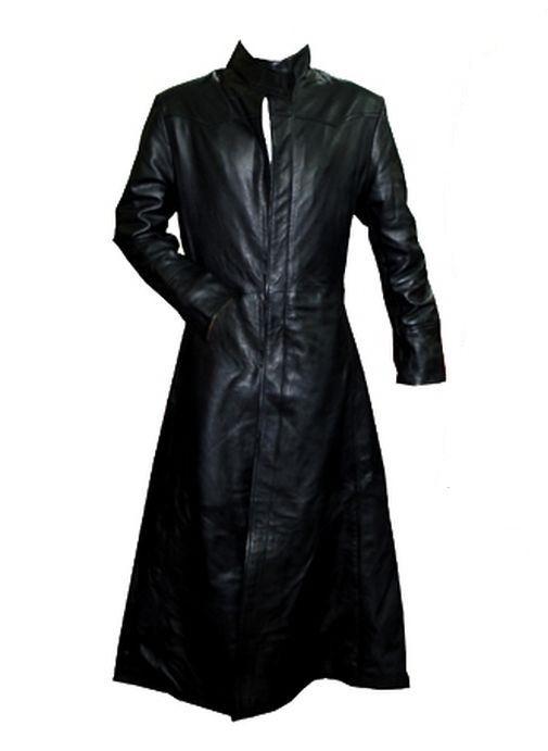 long manteau gothique cuir new rock style 39 matrix 39. Black Bedroom Furniture Sets. Home Design Ideas