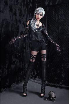 Leggings gothique RQ-BL 'queen amancia'