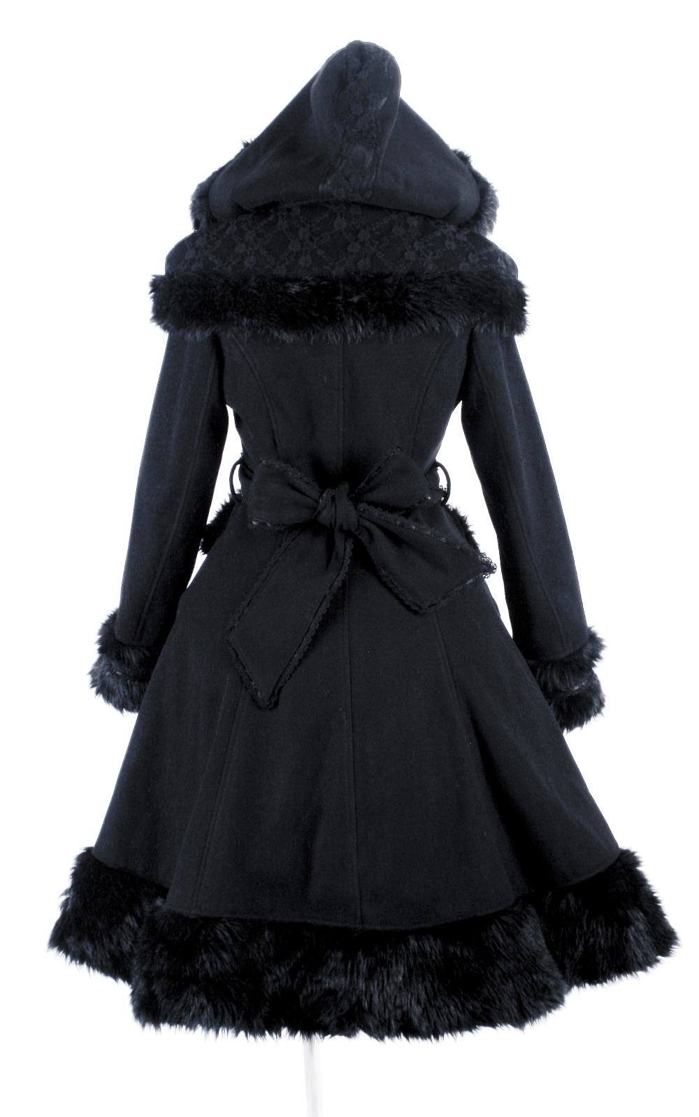 Manteau gothique lolita noir PUNK RAVE