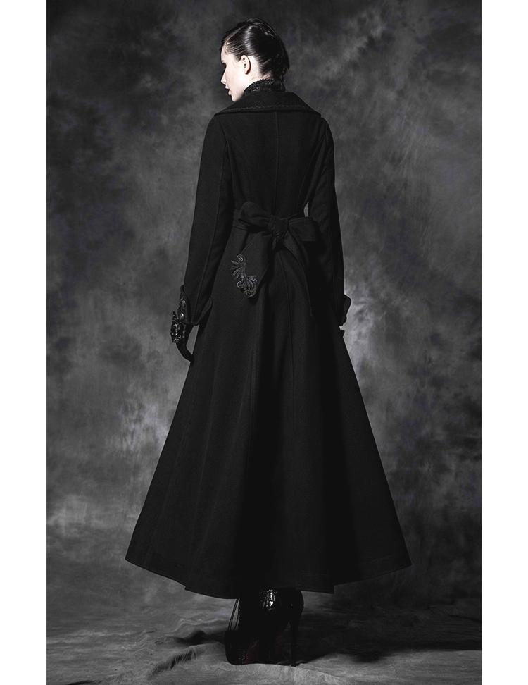 long manteau gothique noir femme punk rave. Black Bedroom Furniture Sets. Home Design Ideas