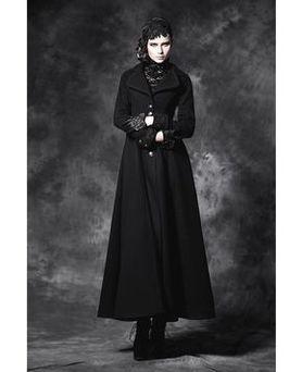 Rave Manteau Femme Gothique Long Noir Punk LSqzVpGUM
