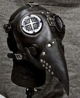 masque gaz steampunk int gral en silicone et cuir. Black Bedroom Furniture Sets. Home Design Ideas