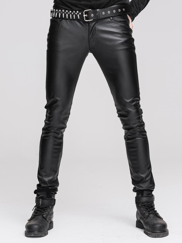 pantalon gothique homme look cuir noir devil fashion coupe pr s du corps. Black Bedroom Furniture Sets. Home Design Ideas