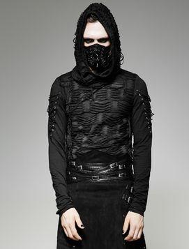 Pull gothique homme à capuche