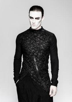 Pull gothique homme PUNK RAVE 'black raven'