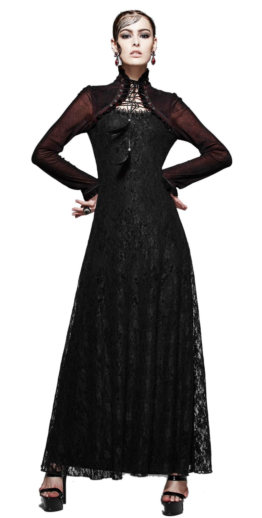Robe noire longue concert