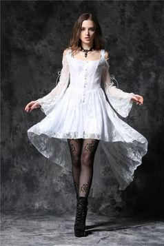 Robe gothique blanche DARK IN LOVE