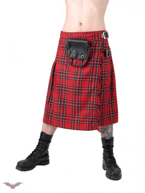 kilt ecossais rouge tartan par queen of darkness. Black Bedroom Furniture Sets. Home Design Ideas