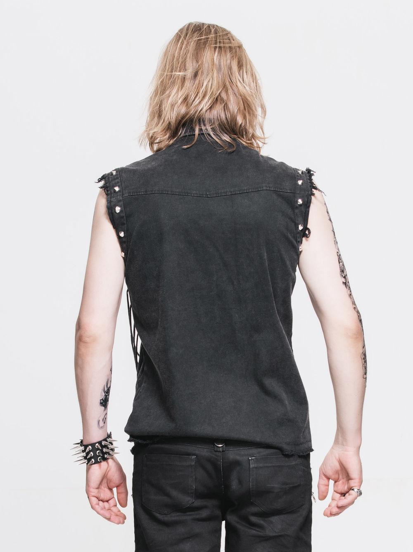 chemise goth rock homme sans manches. Black Bedroom Furniture Sets. Home Design Ideas