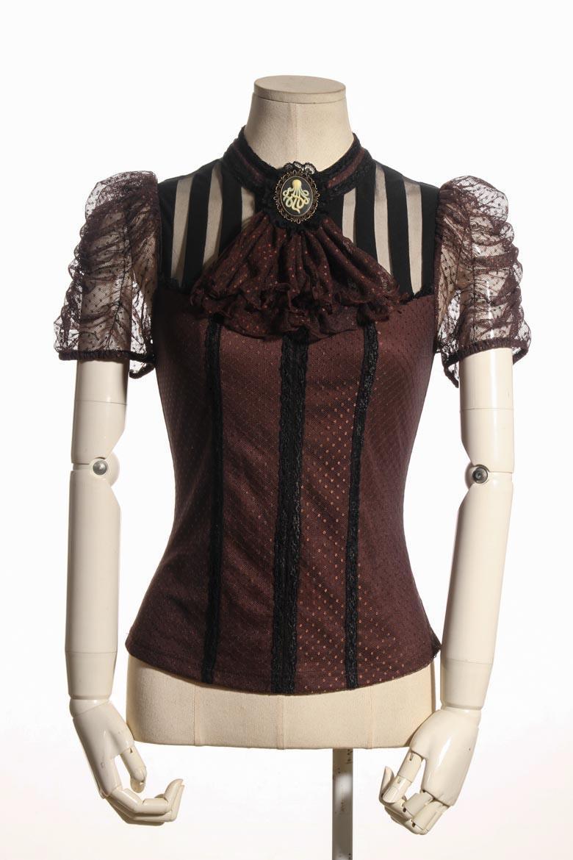 Très Haut steampunk femme marron et noir RQ-BL sp087 UV44