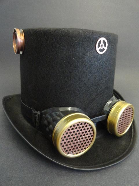 chapeau haut de forme steampunk homme. Black Bedroom Furniture Sets. Home Design Ideas