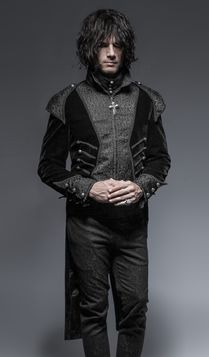 Veste gothique homme PUNK RAVE 'dark lord'